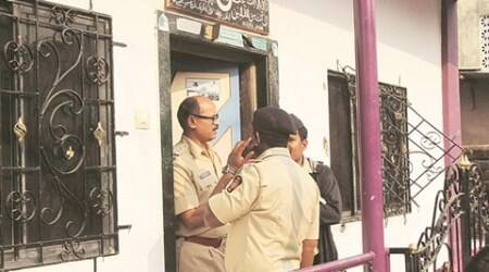 Police and experts at the spot were Hasnain W earekar murdered 7 kids, 6 sisters including wife & one man from his family & committed suicide in jurisdiction of Kasarvadavli police station at Thane at 3 am on Sunday.  Expresphoto by Deepak Joshi, 280216