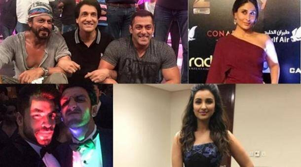 SRK, Salman rehearse for TOIFA; Kareena, Ranveer, Parineeti shine on red carpet