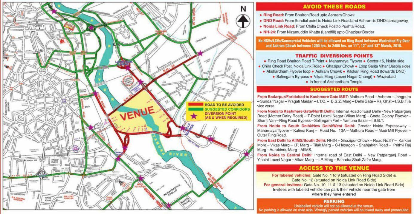 Roads To Avoid In Delhi For The Next 3 Days Check Here For Alternate Routes