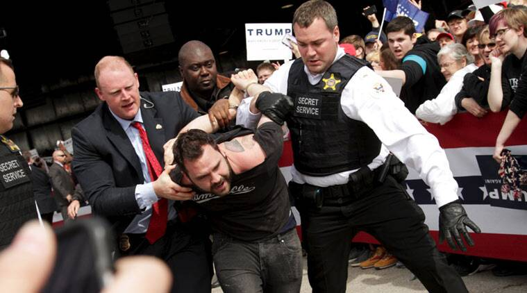 Protester tries to storm stage donald trump calls him islamic state donald trump us presidential election 2016 us elections donald trump ohio rally publicscrutiny Image collections