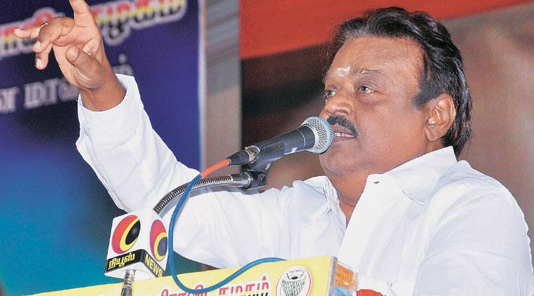 DMK chief M Karunanidhi indicated Monday that talks are still on with Vijayakanth's DMDK, the statement coming at a time Vijayakanth has been attacking the DMK.