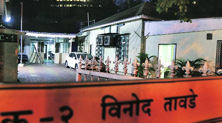 Tawde still occupies the bungalow (right) allotted to him when he was Leader of Opposition in the state Legislative Council. In the backdrop (centre) is the official accomodation recently offered to Eknath Khadse in his capacity as ex-officio chairman of a state-run enterprise. Pradip Das