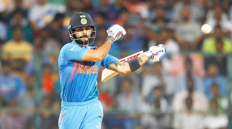 Virat Kohli has scored 184 runs in the ongoing World T20 so far. (Source: AP)