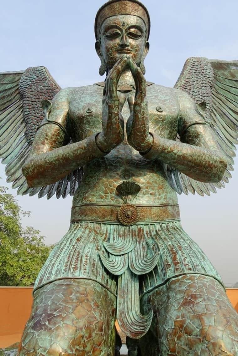 Surrender- Vishnu Garuda by Satish Gupta.