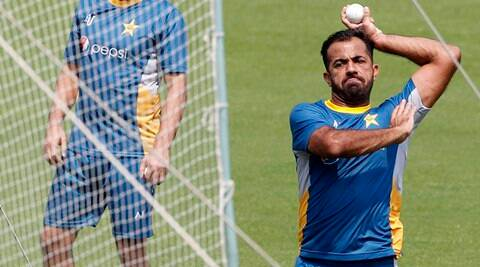 Pakistan's Wahab Riaz hit by ball during practice, goes  for 'precautionary scan'