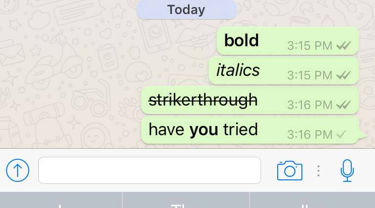Image result for whatsapp strikethrough