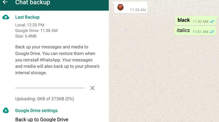 WhatsApp Android update brings support to format text to