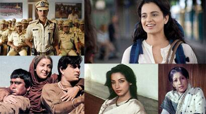 Jai Gangaajal, Priyanka Chopra, Mardaani, Rani Mukerji, Mary Kom, Priyanka Chorpa, Queen, Kangana Ranaut, Gulaab Gang, Madhuri Dixit, Juhi Chawla, English Vinglish, Sridevi, Kahaani, Vidya Balan, No One Killed Jessica, The Dirty Picture, Fashion, Madhur Bhandarkar, Lajja, Madhuri Dixit, Manisha Koirala, Chandni Bar, Tabu, Bandit Queen, Phoolan Devi, Damini, Meenakshi Shishadri, Sunny Deol, Rishi Kapoor, Mirch Masala, Smita Patil, Arth, Shabana Azmi, Bhumika: The Role, Mother India, Nargis, Aandhi, Suchitra Sen, Sanjeev Kumar, women's day, female centric films, women oriented movies