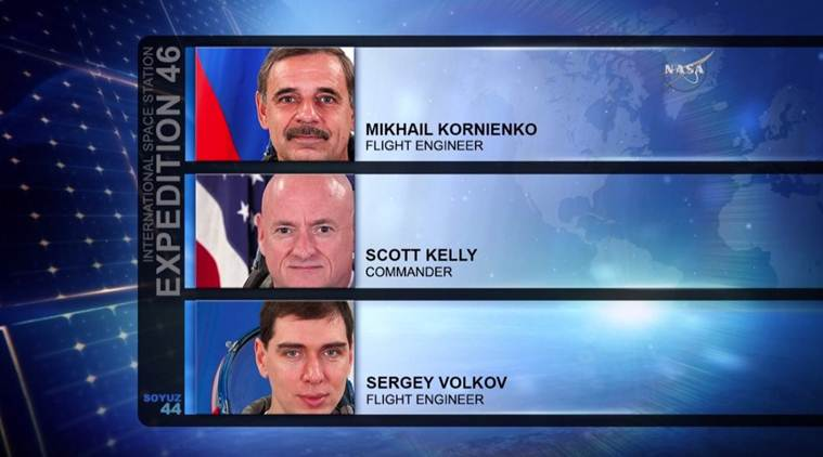 NASA astronaut Scott Kelly was joined by two other astronauts during the yea long space mission (Source: NASA)