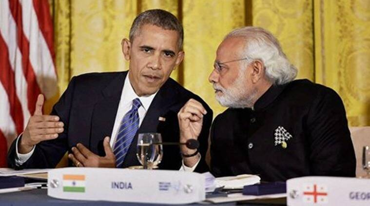 Prime Minister Narendra Modi at a dinner hosted by the President of United States of America (USA), Barack Obama, at the White House, in Washington D.C. (Source: PTI)
