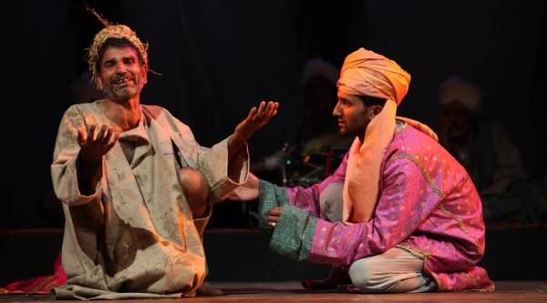 """This great stage of fools: A scene from Badshah Pather, being performed in Delhi; the actors in the 2012 play thought Shakespeare's writing was """"so bad, it is beyond belief"""""""
