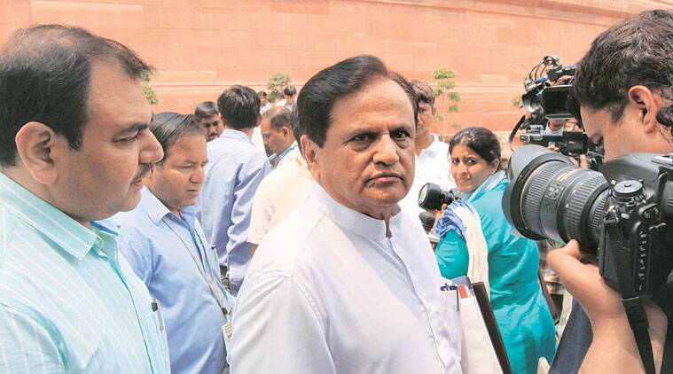 Ahmed Patel at Parliament House on Wednesday. Praveen Jain