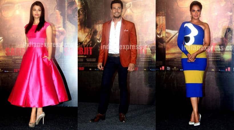 Sarbjit, Sarbjit trailer, Sarbjit trailer launch, Aishwarya Rai Bachchan, Randeep hooda, Richa Chadha, Omung Kumar, Darshan Kumaar, Sarbjit Aishwarya Rai, Sarbjit Randeep Hooda, Sarbjit Richa Chadha, Sarbjit film trailer, Sarbjit trailer launch pics