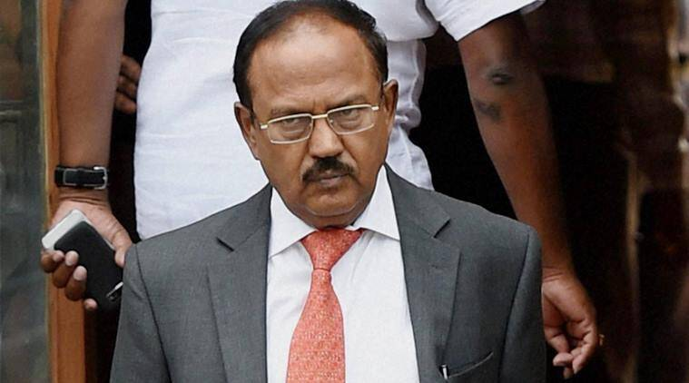 New Delhi: NSA Ajit Doval after a Cabinet meeting at South Block in New Delhi on Wednesday. PTI Photo by Subhav Shukla (PTI4_6_2016_000024b)