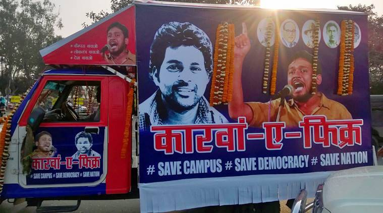 jawaharlal nehru university, hyderabad central university, jnu row, Dalit student groups, Left student parties, aisa, sfi, bapsa, rohith vemula suicide, kanhaiya kumar, umar khalid, b r ambedkar, ambedkar society in colleges, iit bombay, attack on dalit students, dalit student protest, jnu sedition case, india news, education news, latest news