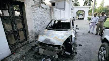 Two killed in AMU campus gunfight, vehicles torched