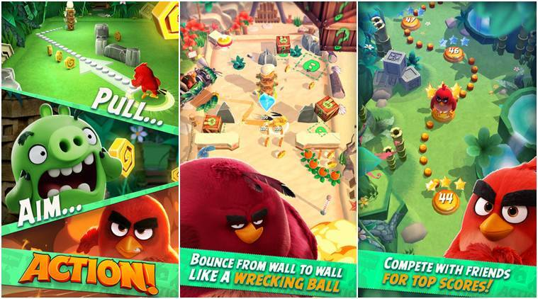 Angry Birds Action will bring in some augmented reality elements, a first in the gaming and movie segment (Source: App Store)