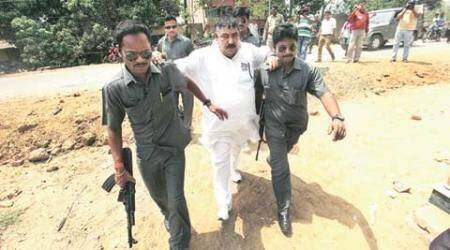 Controversial TMC leader Anubrata Mondal casts vote wearing party symbol