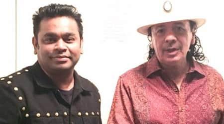 A.R. Rahman performed with CarlosSantana