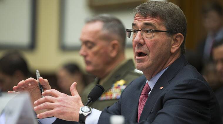 Defense Secretary Ashton Carter speaks during a news conference at the Pentagon. (Source: AP photo)