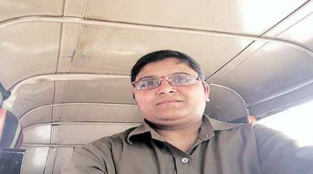 Mumbai: In khaki shirt and blue jeans, this 30-yr-old breaks tradition