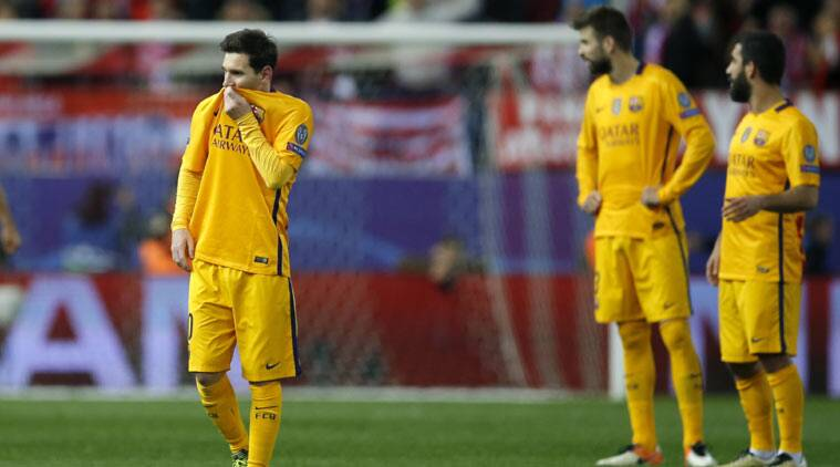 Defending Champions Barcelona Crash Out Of Champions League After 2 0 Loss To Atletico Madrid Sports News The Indian Express