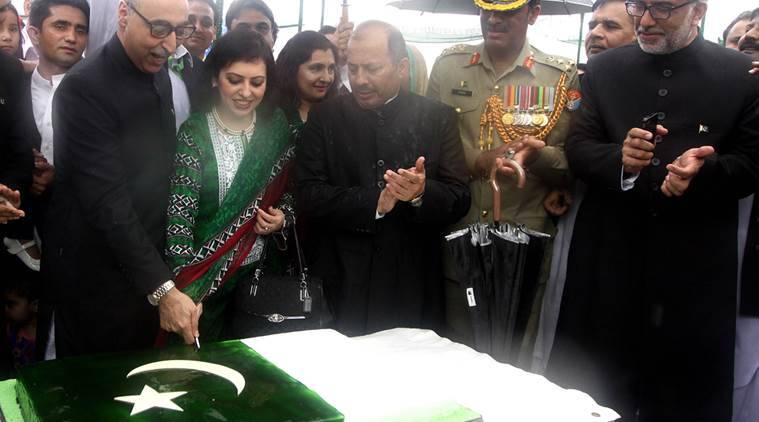 Pakistan High Commissioner Abdul Basit at the 69th Independence Day Celebrating at Pakistan High Commission in new Delhi on Friday Express Photo by Prem Nath Pandey 14 aug 15