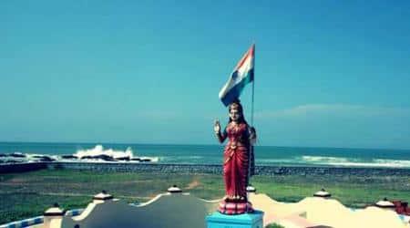 Agra, bharat mata, bharat mata statue, miscreants, agra district court, bharat mata statue vandalised, indian express