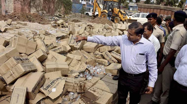 Thirty Six boxes of illegal liquor seized in Punjab's Moga, 2 held