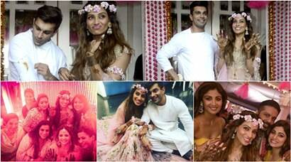 Latest pics of Bipasha Basu, Karan Singh Grover's mehendi: Shilpa Shetty, Sophie Choudry attend the ceremony