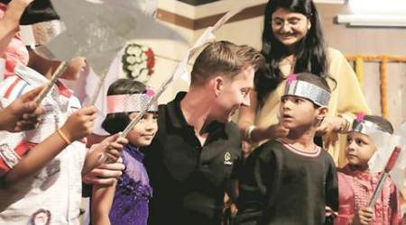 Brett Lee in Pune to promote cochlear implant to overcome hearing disability