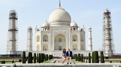Taj mahal, prince william, kate middleton, taj mahal visit, royal couple taj mahal visit, British royal couple, British, royal couple, Prince william, princess kate middleton, duchess of cambridge, picture gallery, india news
