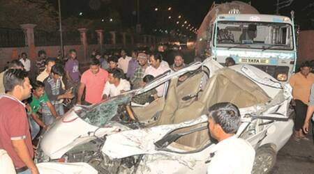 Two cars in head-on collission: Five of family among eight killed in Lucknow