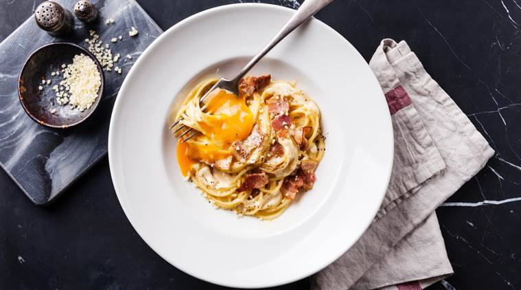 Whose pasta is it anyway? The Pasta alla carbonara, traditionally made using sphagetti, turned into a one-pot farfelle dish in a French food website video. (Photo: Thinkstock)