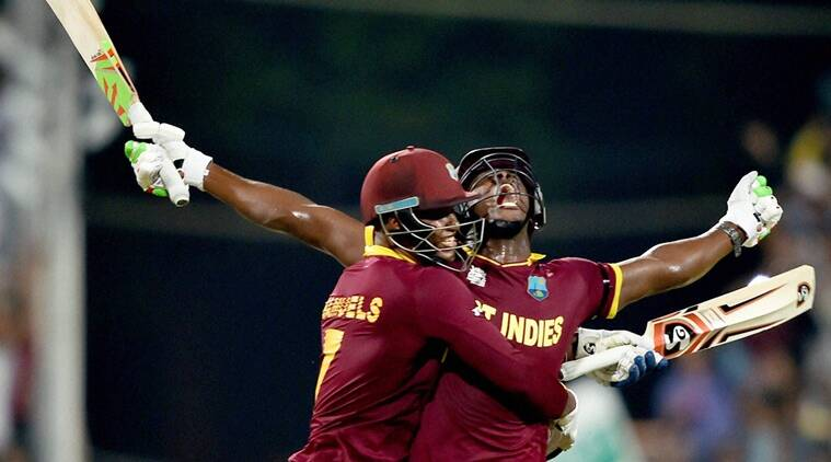 Carlos Brathwaite's incredible display of power-hitting allowed the Caribbean side to become the first to win the World Twenty20 title twice. (Source: PTI)
