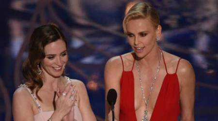 My son loves Emily Blunt: Charlize Theron