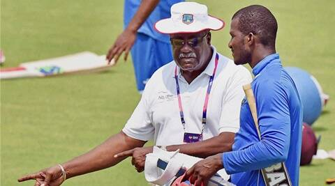 Clive Lloyd performs 'Champion' dance after West Indies win