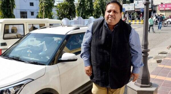 Jalandhar: Punjab SAD MLA from Phillaur Avinash Chander arrives to appear before ED office in drugs mafia case in Jalandhar on Tuesday. PTI Photo (PTI3_8_2016_000270A)