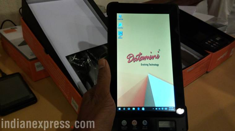 Datamini has launched new enterprise class tablet that incorporates Aadhaar-card approved fingerprint scanner right into the tablet
