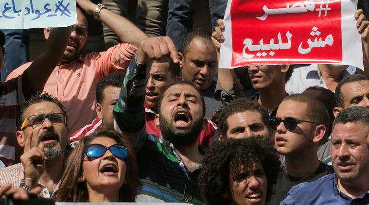 Egypt, Egypt protests, Egypt protests arrest, arrest in egypt protests, Saudi Arabia, Abdel-Fattah el- Sisi, Egypt president, egypt president Abdel-Fattah el- Sisi, Sisi, Red Sea islands, egypt government, Saudi Arabia's King Salman bin Abdulaziz, world news, international news