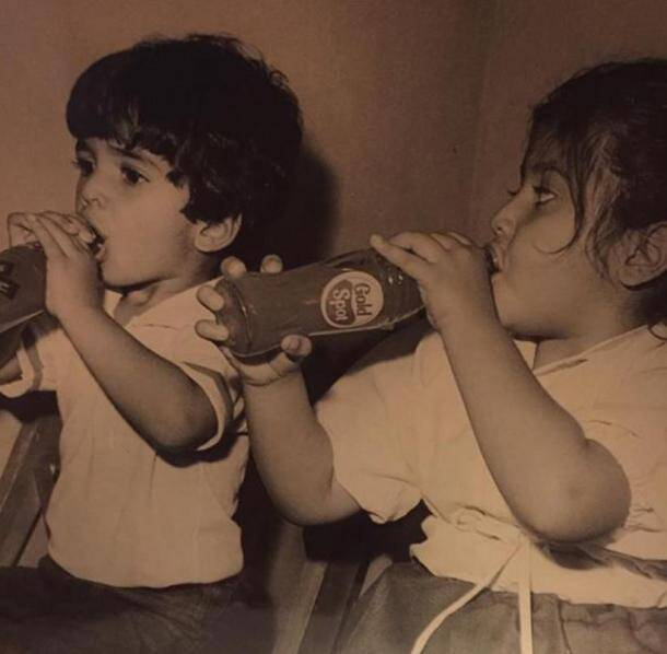Ekta Kapoor, Tusshar Kapoor, celebrity childhood photo