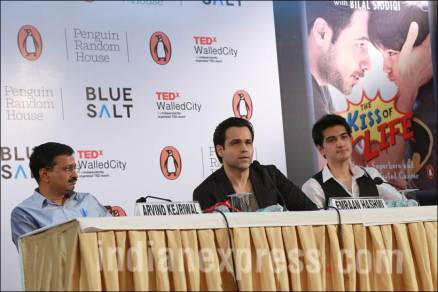 Photos emraan hashmi in delhi for book launch the kiss for Ayaan indian cuisine