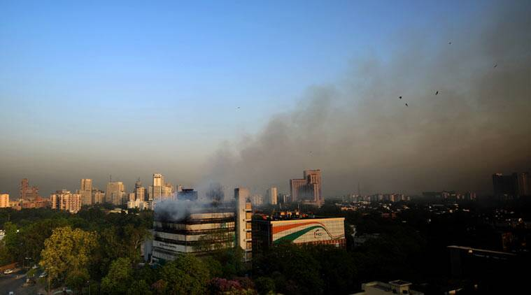 fire in delhi, fire in delhi today, fire in Ficci, massive fire in delhi, fire in delhi national museum, delhi national museum of natural, fire in delhi news, delhi news, latest news, latest news delhi