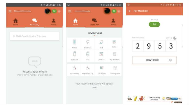 FreeCharge's 'Chat and Pay' feature is first step towards taking