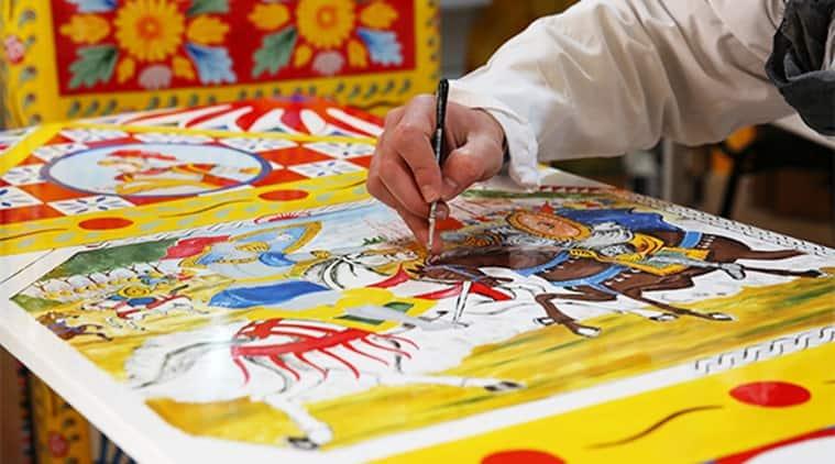 Sicilian artist at work.