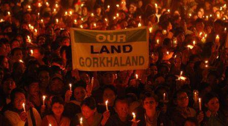 Siliguri: Locals burn effigies, protest against call for Gorkhaland