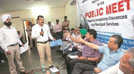 Public meeting: From waterlogging to repair of pipelines, residents highlight multiple civicgrievances