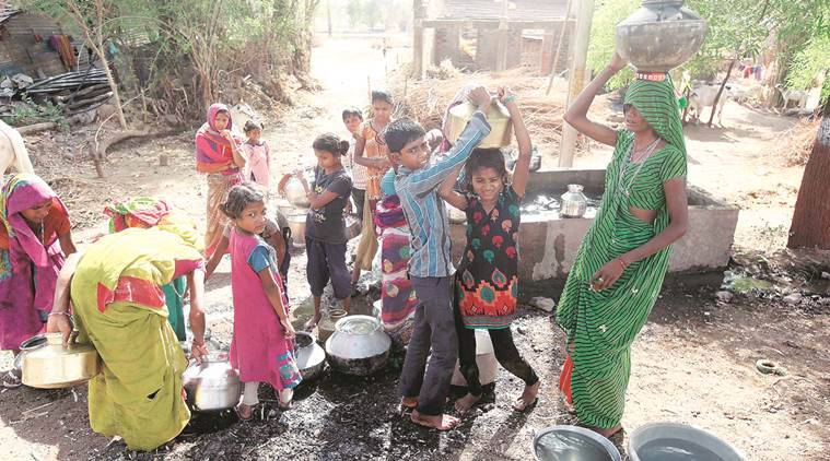gujarat government, chhota udepur, gujarat water problem, village collect water, village pool funds, indian express ahmedabad