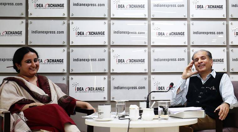Sunil Khilnani at the Idea Exchange - Express Photo By Amit Mehra 16 March 2016