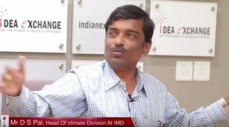 DS pai, IMD chief, monsoon, monsoon prediction, monsoon in india, indian express